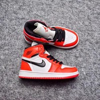 Best Deal Online Nike Air Jordan Retro 1 High Chicago Kid Basketball Shoes for Youth Boys and Child