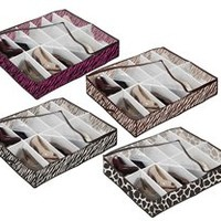 Under bed Shoe Storage - 4 Animal Prints Available Dorm Organization Items Containers Hold Stuff