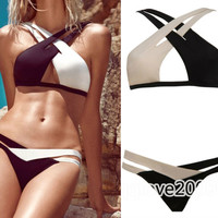 Hot Sexy Women's Bandage Swimsuit Padded Push Up Bikini Set Swimwear Two Colors