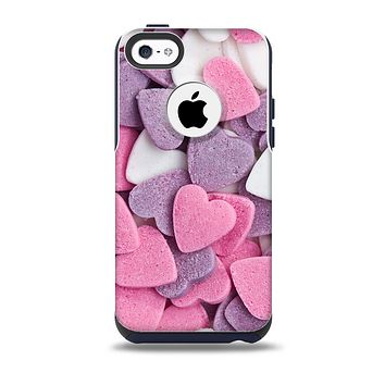 Pink and Purple Candy Hearts Skin for the iPhone 5c OtterBox Commuter Case