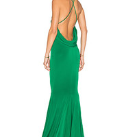 Gemeli Power Barthelemy Gown in Emerald Green Jersey | REVOLVE