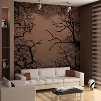 Vinyl Wall Decal Sticker Branches Square #5308