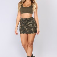 Bae Camp Camo Mini Skirt - Camo