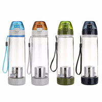 New A Outdoor Sport Drink Travel Bicycle Plastic Fruit Lemon Juice Water Bottle With Tea Infuser Filter Coffee Cup 500/600ml