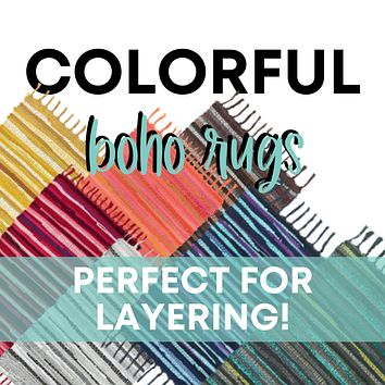 Colorful Woven Boho Rugs
