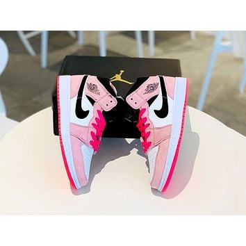 AJ 1 Air Jordan 1 NIKE Mid new women's versatile fashion sneakers shoes