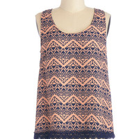 ModCloth Mid-length Sleeveless A Different Direction Top