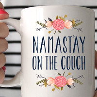 Namast'ay on the Couch Coffee Mug
