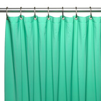 "Heavy Duty Vinyl Shower Curtain with Metal Grommets - 70"" x 72"" (Jade)"