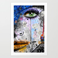 she's well acquainted Art Print by LouiJoverArt