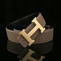 HERMES Woman Fashion Smooth Buckle Belt Leather Belt H-A-GFPDPF Tagre™