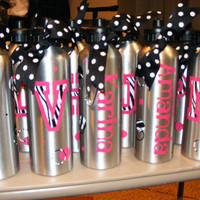 Personalized/Decorated 25 oz Sports Water Bottle Zebra by cgirard5