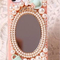 Go outing mirror hat handbag protective case for iPhone 5/5c/4/4s, phone shell,personalized gift,mobile accessories,the flower sisters