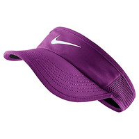 Nike Court Featherlight Tennis Visor (X-Small/Small, COSMIC PURPLE/BLACK//WHITE)
