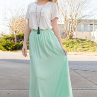 Monica Maxi Pocket Skirt