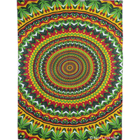 Twin Vibrant Multicolor Mandala Hippie Dorm Room Decor Tapestry Wall Hanging