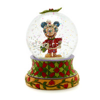 Mickey Mouse Christmas Snow Globe By Disney Traditions | Disney Store