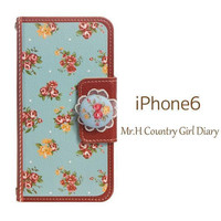Mr.H Country Girl Special Leather Type Diary case for iPhone 6
