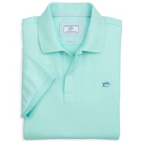 Short Sleeve Skipjack Polo in Aqua by Southern Tide