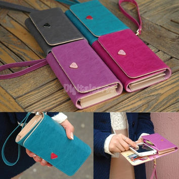 2014 new multifunction women wallets, Coin Case purse for phone,Card Wallet Leather Purse 18282 = 1713086468