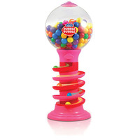 Dubble Bubble 18 inch Spiral Fun Gumball Machine Bank - Pink