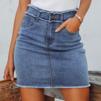 New Skirt Sexy Denim Skirt Slim High Waist Skirt