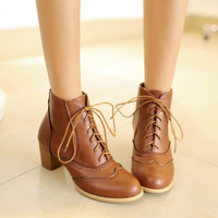 Brown Lace Boots