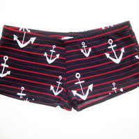 ANCHOR PRINT Shorts   Great Roller Derby Shorts  by collendubose
