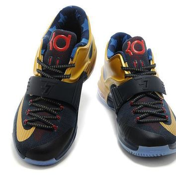 Tagre™ 2017 Nike Zoom KD 7 Kevin Durant 7 Ⅶ USA Gold Medal Basketball Shoes