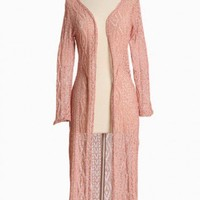 melodic dreams knitted maxi cardigan