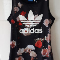 Adidas Originals Women Fashion Floral Print Tank