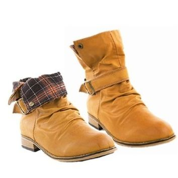 Casual Boots with Fold Over Cuff:Amazon:Shoes