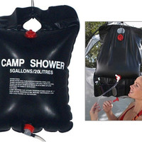 Solar Camping Shower 20 Liters (Black)