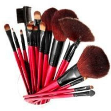 SHANY Professional 13-Piece Cosmetic Brush Set with Pouch, Set of 12 Brushes and 1 Pouch, Red from SHANY at the best clothing stores online