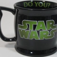 "Disney Star Wars Yoda ""Height Requirement"" Coffee/Tea/Hot Coco Black Ceramic Mug - Disney Parks Exclusive & Limited Availability"