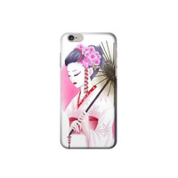 P7020 Devushka Geisha Kimono Case For IPHONE 6 PLUS