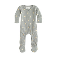BABY FOOTSIE COVERALL IN FOIL HEART