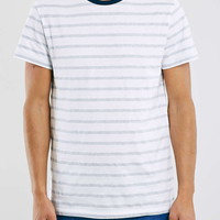 Slim Navy/White Stripe Ringer T-Shirt