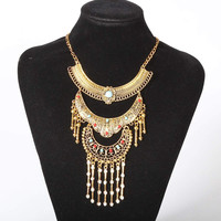 Ethnic Statement Necklace with Pendants Burning Man