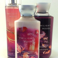 New Bath & Body Works Gift Set Twilight Woods With Gift Bag And Ribbon!
