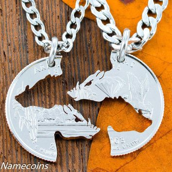 Razorback hog Necklaces, for boar hunters or hog theme, by Namecoins