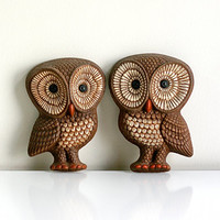 Mid Century Owls Wall Hangings