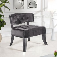 Charlotte Grey Velvet Accent Chair