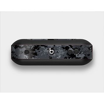 The Black Digital Camouflage Skin Set for the Beats Pill Plus