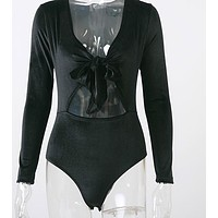 Mid Cut Out Bow Body Suit