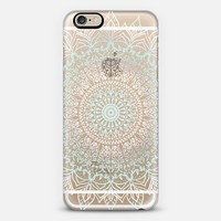 BOHO MANDALA - TEAL AND WHITE PHONE CASE iPhone 6 case by Nika Martinez | Casetify