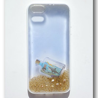 iPhone 5 case Resin with Real Sand shell . by Annysworkshop