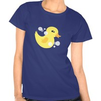 Cute Boy Rubber Ducky Baby Shower Tees