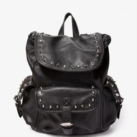 Studded Faux Leather Backpack   FOREVER 21 - 1046229691
