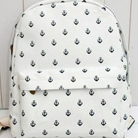 Canvas Backpack with Anchor Embellishment THV312 from topsales